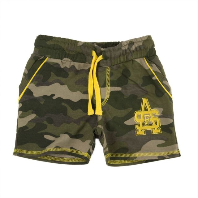 Scott And Fox - Short jogging kaki et jaune garçon Camouflage Scott   Fox 73a3814a1a6