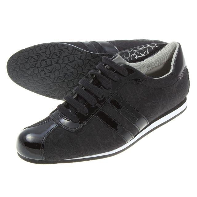 5031cd44d31b8e Calvin Klein - Chaussure George Ck Logo Noir - pas cher Achat / Vente  Baskets homme - RueDuCommerce