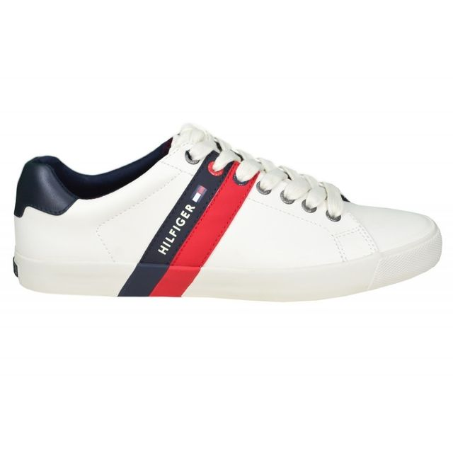 Tommy Hilfiger Baskets Volley blanche pour homme pas