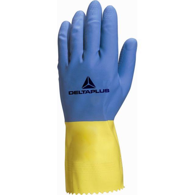 delta plus gant latex menage duocolor 330 ve330bj0 pas cher achat vente protections pieds. Black Bedroom Furniture Sets. Home Design Ideas