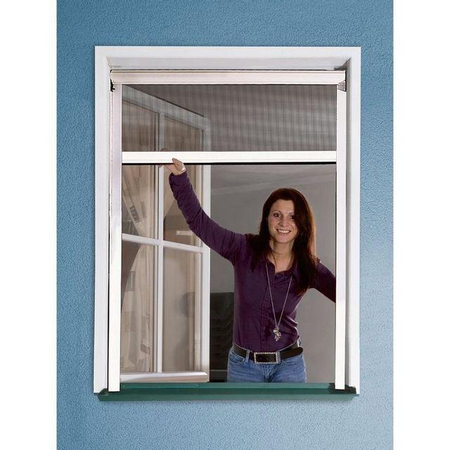 windhager moustiquaire store enrouleur pour fen tre rhino screen blanc 130x160cm pas. Black Bedroom Furniture Sets. Home Design Ideas