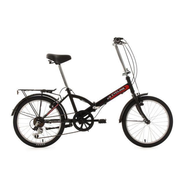ks cycling v lo pliant 20 39 39 classic noir tc 34 cm pas cher achat vente ville et campagne. Black Bedroom Furniture Sets. Home Design Ideas