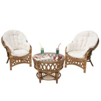 Salon rotin blanc - catalogue 2019 - [RueDuCommerce - Carrefour]