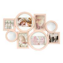 Innova - Collection Enfant Maggiore Cadre Multi Vues avec 8 Photos Résine Rose