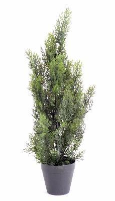 artificielflower arbuste artificiel cypr s mini int rieur ext rieur h 60 cm vert taille. Black Bedroom Furniture Sets. Home Design Ideas