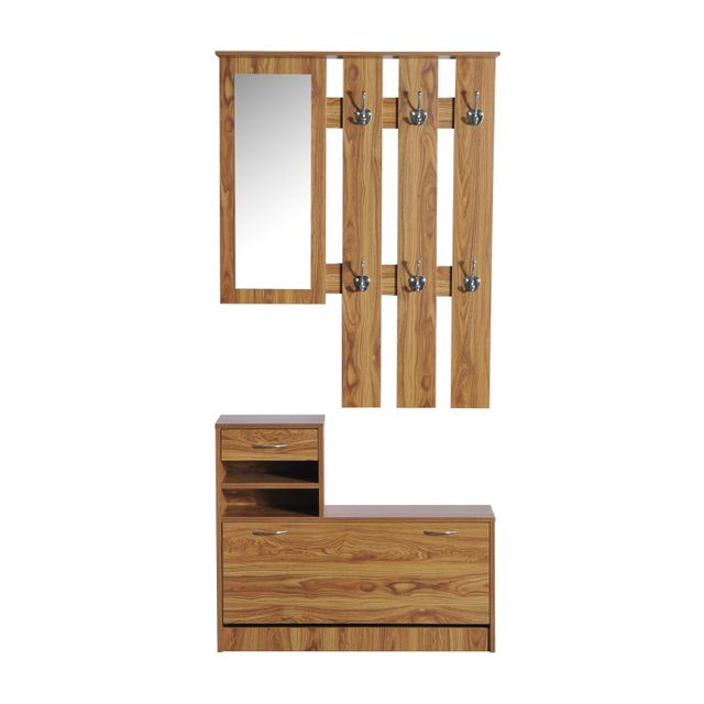 homcom ensemble de meubles d 39 entr e design contemporain. Black Bedroom Furniture Sets. Home Design Ideas