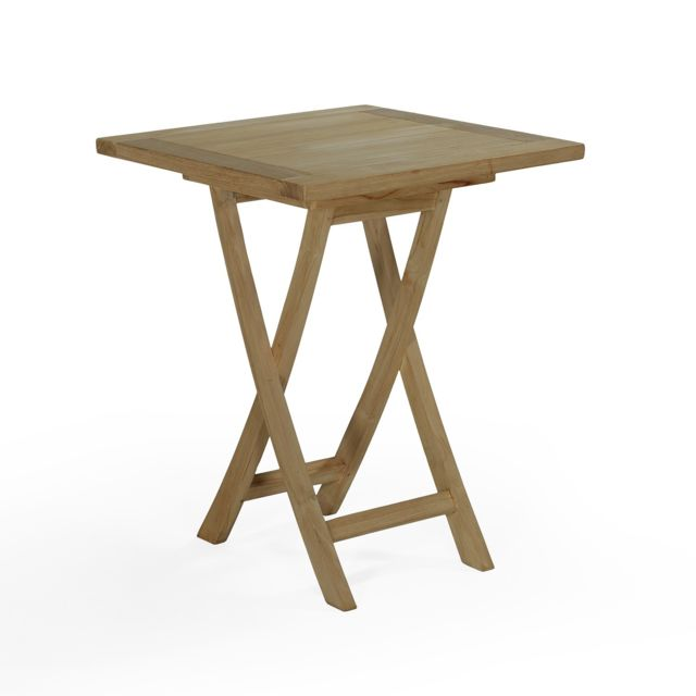 Teck\'ATTITUDE - Table de jardin en Teck Pliable 60 x 60 cm - Bistrot ...