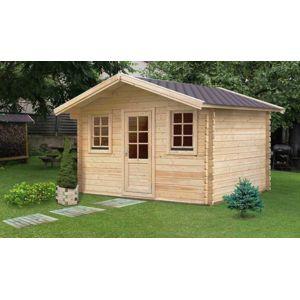 Galanis chalet de jardin en bois massif avec plancher for Chalet bois 10m2 prix