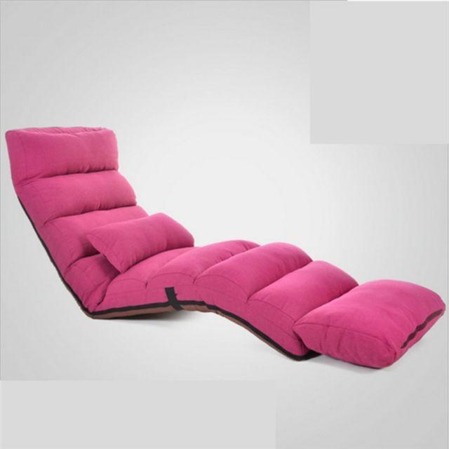 Wewoo Fauteuil Canapé moderne Lit Lounge Salon Chaise inclinable Canapé-lit rabattable rouge