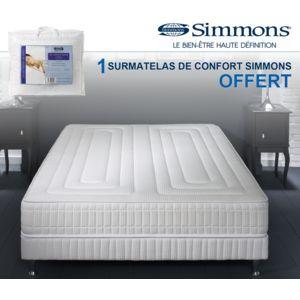 simmons 1 sur matelas de confort offert ensemble matelas prague sommier pieds pas. Black Bedroom Furniture Sets. Home Design Ideas