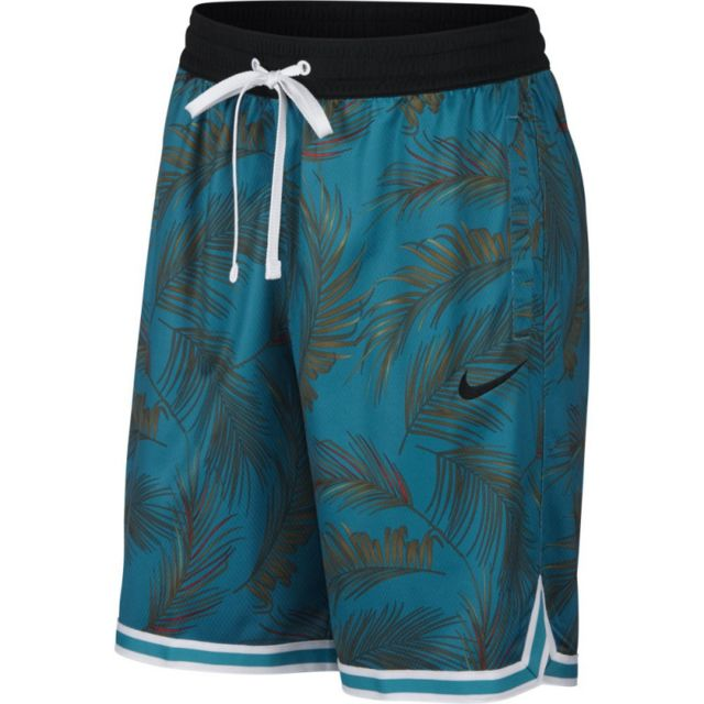 Nike Short de Basketball Dry Dna Floral Vert pour homme