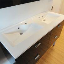 Creazur - Plan vasque double prof 46 RÉSILOGE - 140 cm