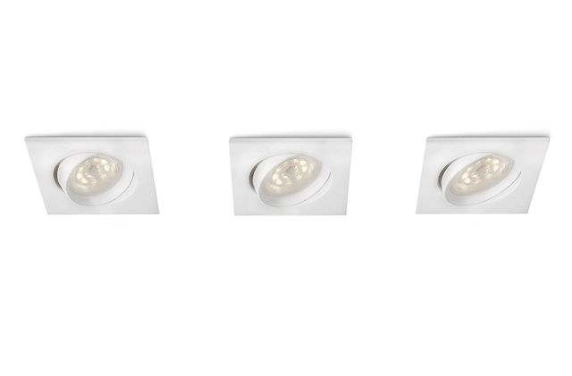 Philips 518262 - Spots encastrables Galileo Led - Blanc