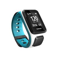TomTom - Montre sport Outdoor Gps Runner 2+Cardio Blanc/turquoise Fin