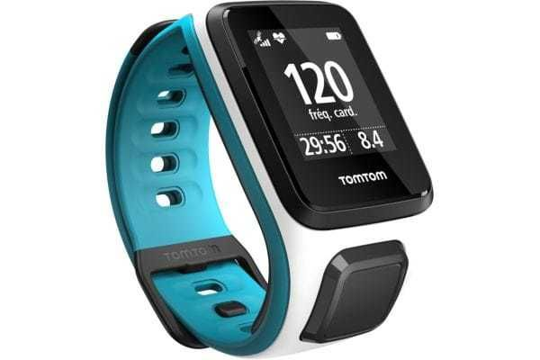 TOMTOM Montre sport OUTDOOR GPS Runner 2+Cardio Blanc/turquoise Fin