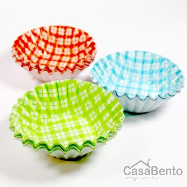 Casabento Cups motif Vichy 3 Couleurs