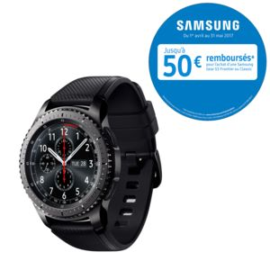 samsung gear s3 frontier r760 noir pas cher achat vente montre connect e rueducommerce. Black Bedroom Furniture Sets. Home Design Ideas