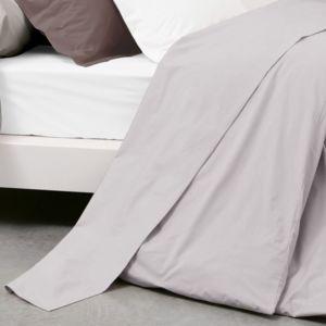 linnea drap plat uni 240x310 cm 100 coton alto calcium gris 310cm x 240cm pas cher achat. Black Bedroom Furniture Sets. Home Design Ideas