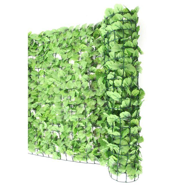 mendler haie artificielle brise vue pr balcon feuilles 300x100cm vert pas cher achat. Black Bedroom Furniture Sets. Home Design Ideas