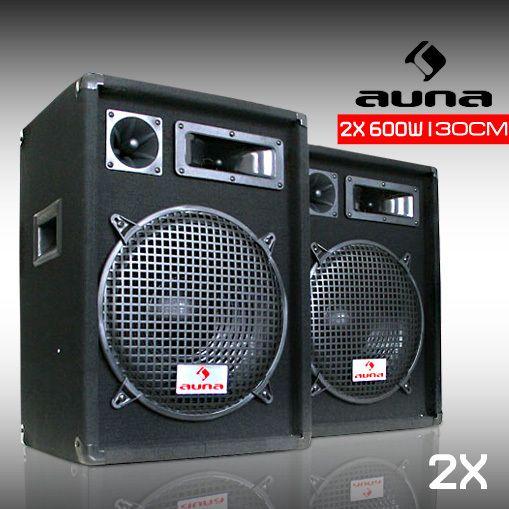 MALONE Pack enceintes passives 30cm système sono 3 voies pro DJ PA
