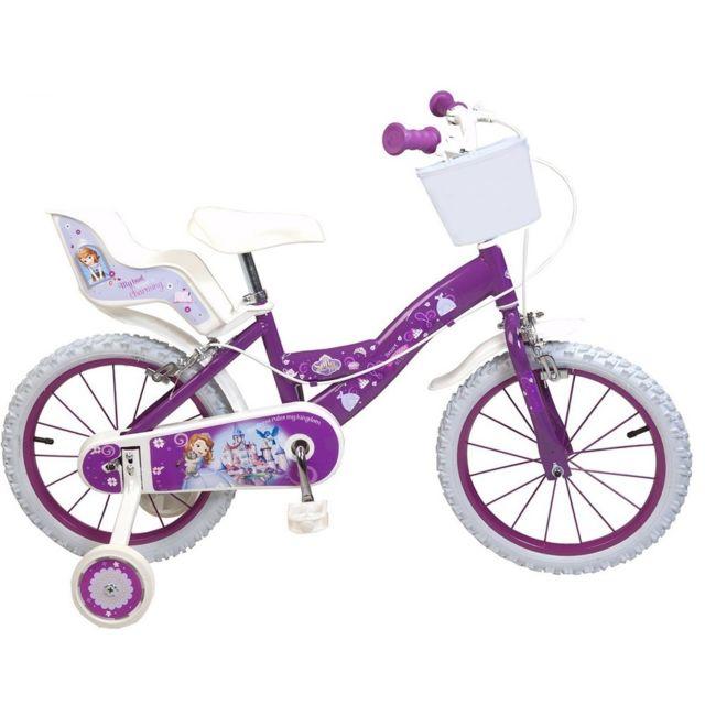 4bdad7817c9f3 Marque Generique - Vélo officiel Disney Princesse Sofia 16 pouces fille.  Description; Fiche technique. Pour votre petite fille de 5 à 8 ans ...