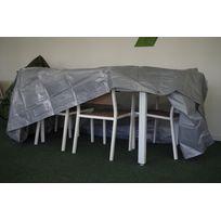Titanium - Housse Table Restangulaire + Chaise Argent