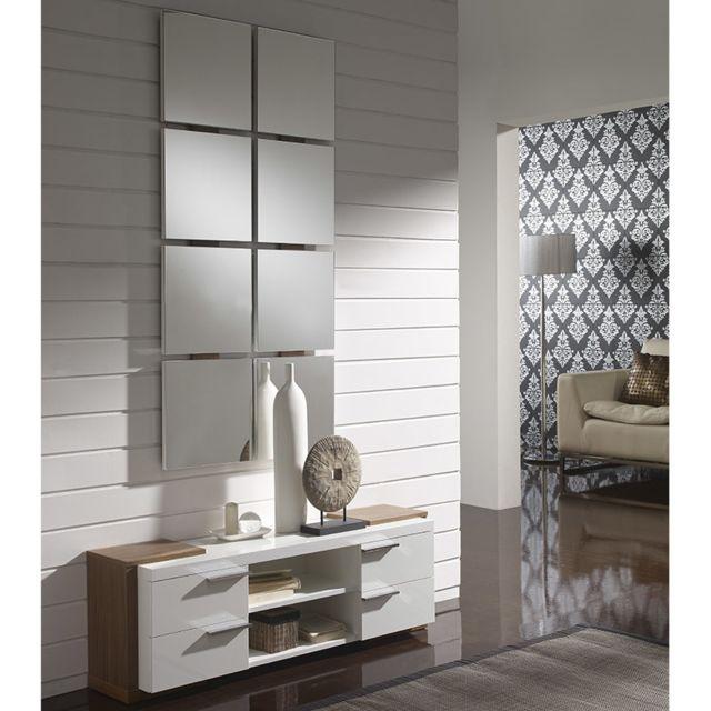 d'entrée Meuble couleur Nouvomeuble moderne et blanc noyer dCWorxeBQE