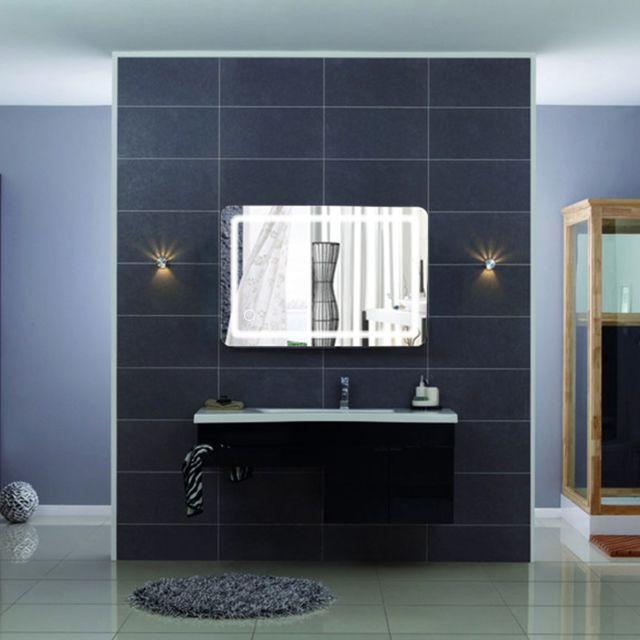 Miroir De Salle De Bain 50 X 70 Cm Avec Lumineux Led Pas Cher