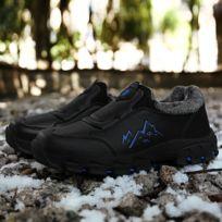 Chaussures Bottes de neige froides imperméables et anti dérapantes pour hommes Couleur: Noir Bleu Taille: 44