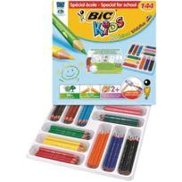 Bic Kids - crayon de couleur evolution triangulaire - classpack de 144