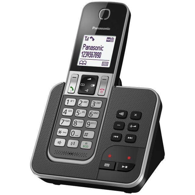 a860be8a53e76d PANASONIC - Téléphone fixe sans fil avec répondeur KX - TGD320FRG ...