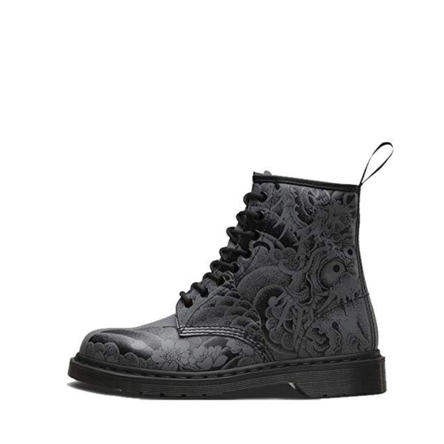 141d840a6d7 Dr. Martens - Boots Dr Martens Black+GUNMETAL - 1460-24239001 - pas ...