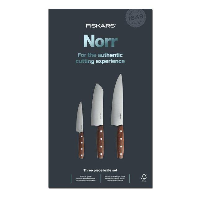 FISKARS Set de 3 couteaux Norr