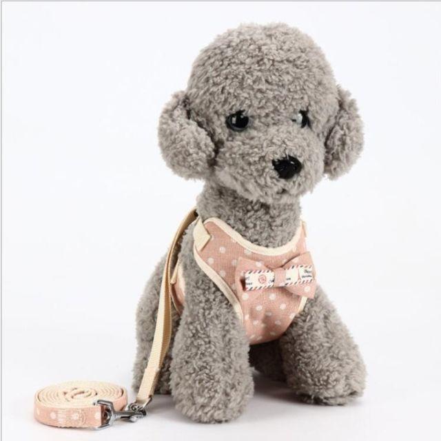 Wewoo Laisse pour chien universel animaux de compagnie dans le doscordecordechaîne de tractionlaisse chientaille S rose