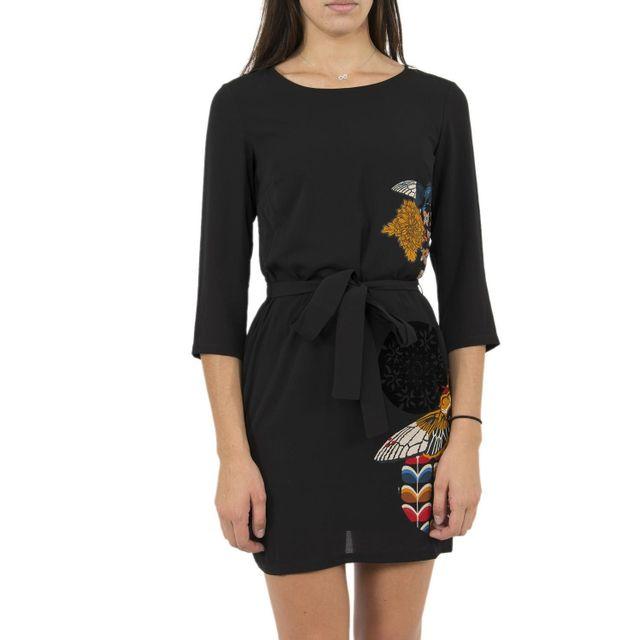 Desigual - Robe 17wwvwb8 brad noir - pas cher Achat   Vente Robes -  RueDuCommerce 0f1bd421835