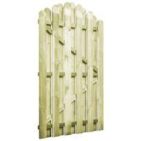 Portail De Jardin Bois Pin Imprégné 100x150cm Design D Arche Clôtures Et Barrières Portillons Vert Vert