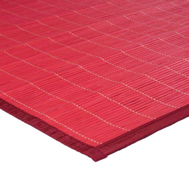 Mon beau tapis tapis en bambou fines lattes et ganse - Tapis bambou grande taille ...