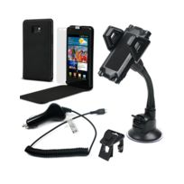 Muvit - Car Pack Premium Slim Samsung Galaxy S2 Etui Support voiture Chargeur voiture et Film écran