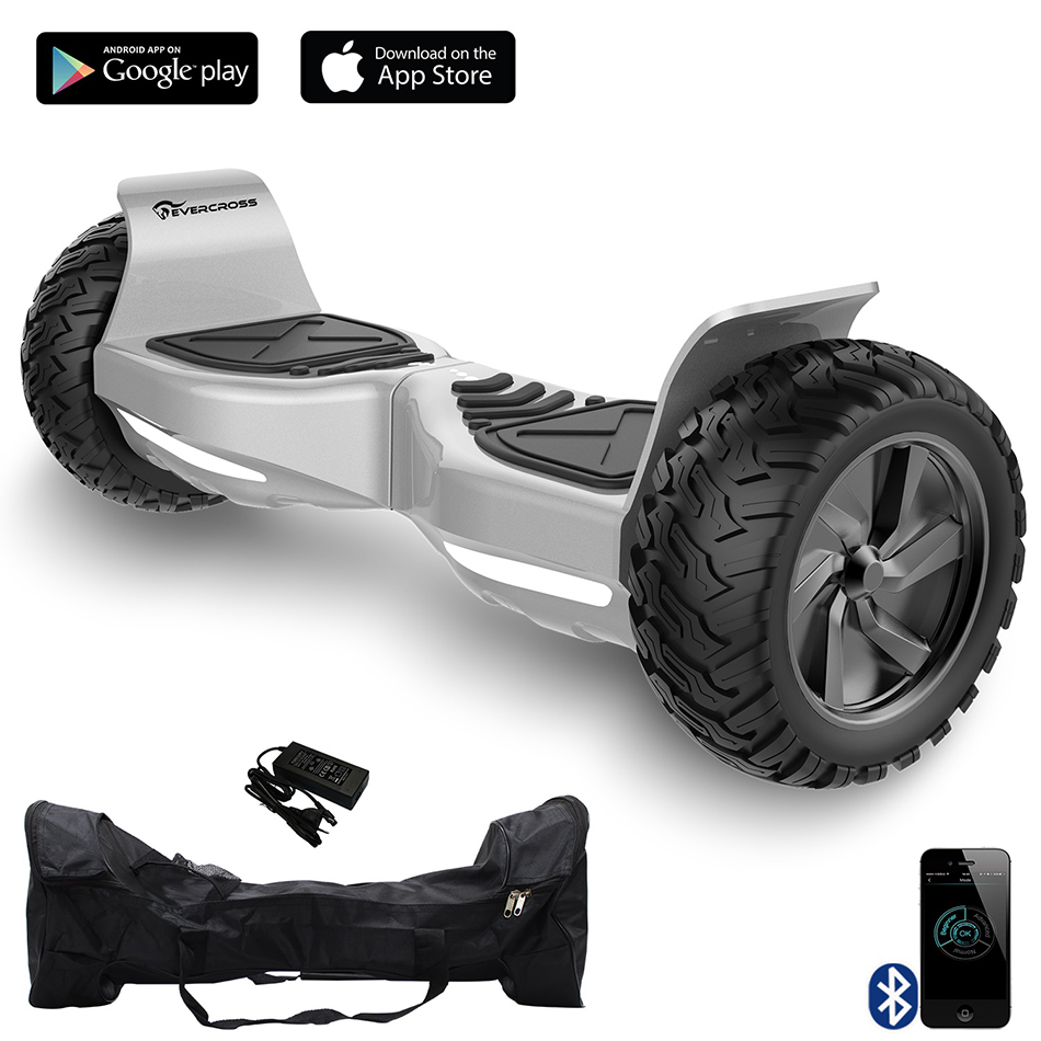 CHALLENGER BASIC HOVERBOARD, GYROPODE HUMMER TOUT TERRAIN 8.5 POUCES Gris