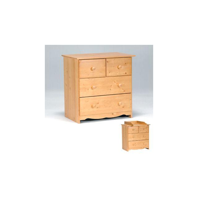 Commode Teddy 2 + 2 tiroirs / Miel