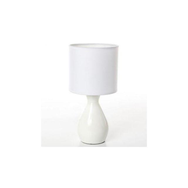 Atmosphera Lampe Ceramique Pied Bouteille Blanche Pas Cher Achat