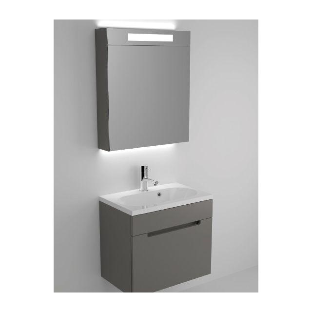 Riho Ensemble meuble & lavabo Enna Set 30 en bois laqué brillant 60x38 H 53,5 cm