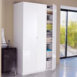 alin a alt a armoire dressing 3 portes battantes glossy blanc 150cm pas cher achat vente. Black Bedroom Furniture Sets. Home Design Ideas