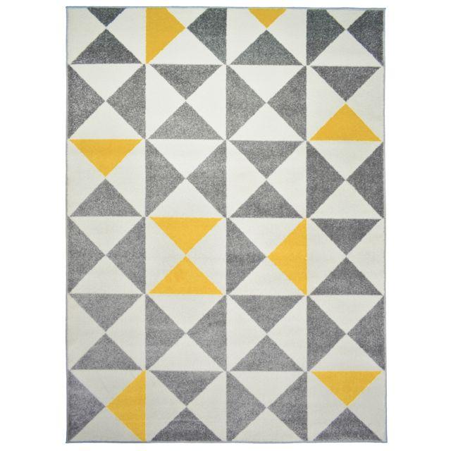 koton tapis de salon scandinave forsa jaune 200x280cm. Black Bedroom Furniture Sets. Home Design Ideas
