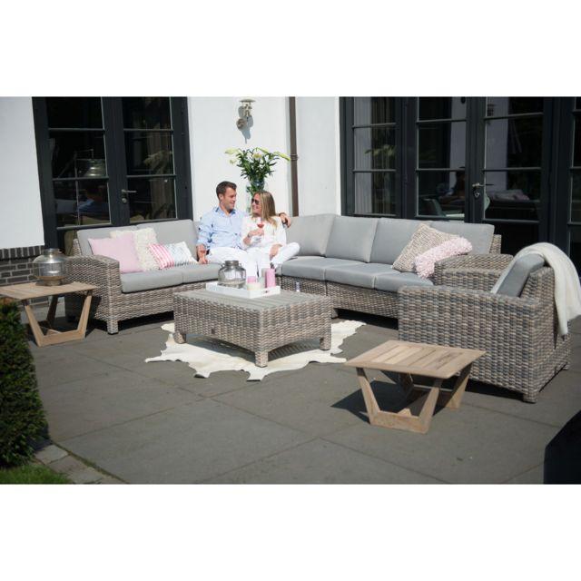 4 Seasons Outdoor - Salon de jardin en résine tressée avec canapé d ...
