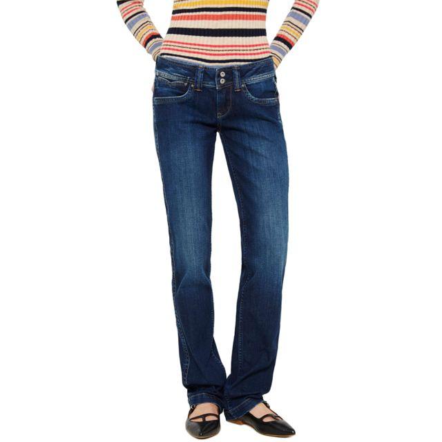 Taille Bleu Jeans Jean Pepe 25 32 Longueur Banji pas Femme YTcqpR