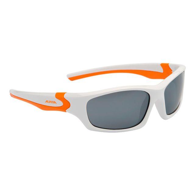 c927201aaf6cdd Alpina - Lunettes Flexxy blanc orange verres effet miroir noir enfant