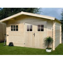 Habitat et Jardin - Abri de jardin - 19,72 m² - 4.64 x 4.25 x 2,39 m - 28 mm