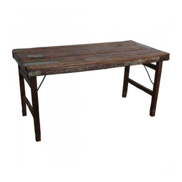 Mathi Design Vintage - Table pliante bois marron