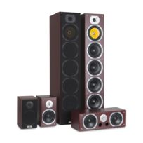 AUNA - V9B Surround Lautsprecher Set 5 Boxen Set 440W RMS mahagoni